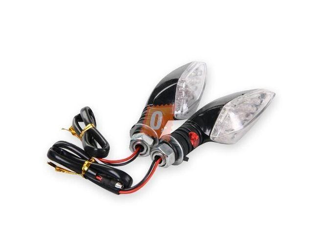 LED blinkry na motocykl 2ks s gumovou nohou - 16 LED diod, černé 1