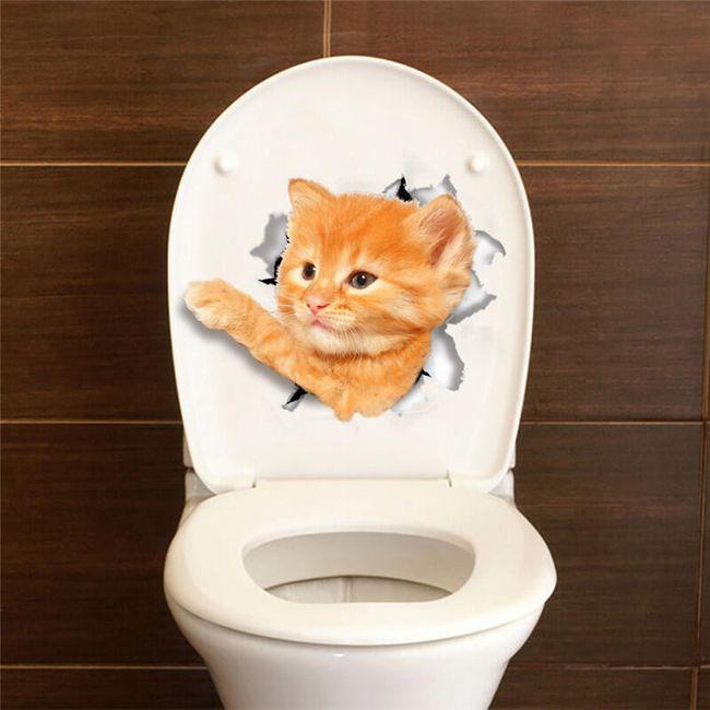 Kočičí samolepka na WC nebo na vypínač 1