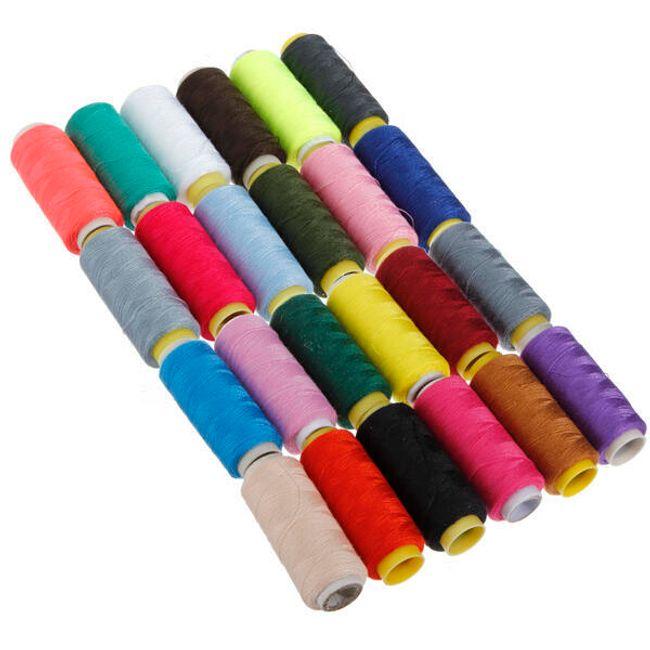 Sada polyesterových nití - 24 kusů různých barev 1