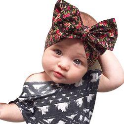 Детска еластична челенка с красива панделка - повече варианти