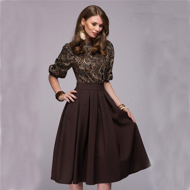 Vintage ženska haljina sa motivima cveća - 2 boje 1