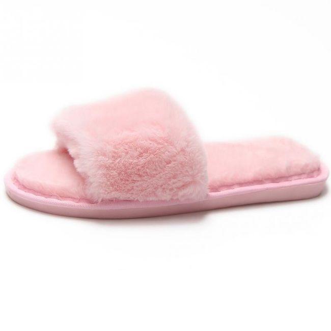 Plyšové pantofle pro dámy na doma - 5 barev 1