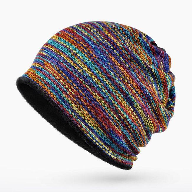 Плетена шапка с излуствена козина - 2 в 1 1