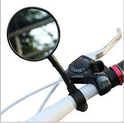 Lusterko wsteczne na rower w czarnym kolorze