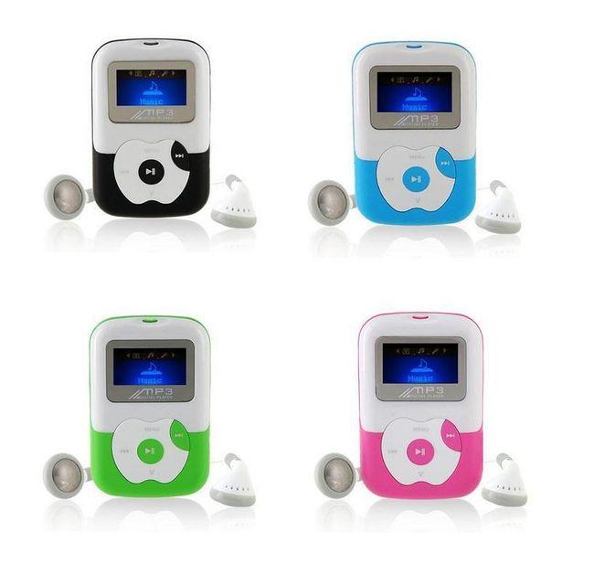 MP3 přehrávač s displejem na SD kartu se sluchátky a USB kabelem 1