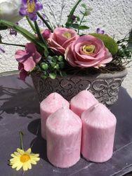 Adventní svíčky růžové