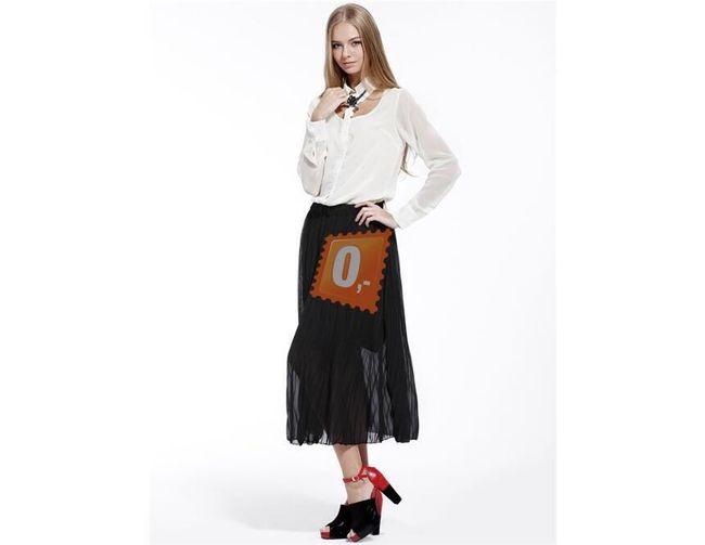 Dámská plně skládaná sukně - černá 1