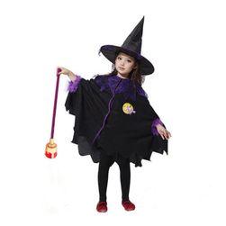 Dětský kostým na Halloween - čarodějnice