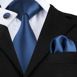 Pánská kravata s manžetovými knoflíčky a kapesníčkem - 20 variant