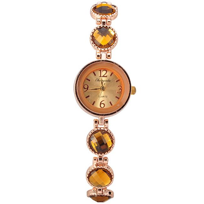 Dámské náramkové hodinky v barvách jantaru 1