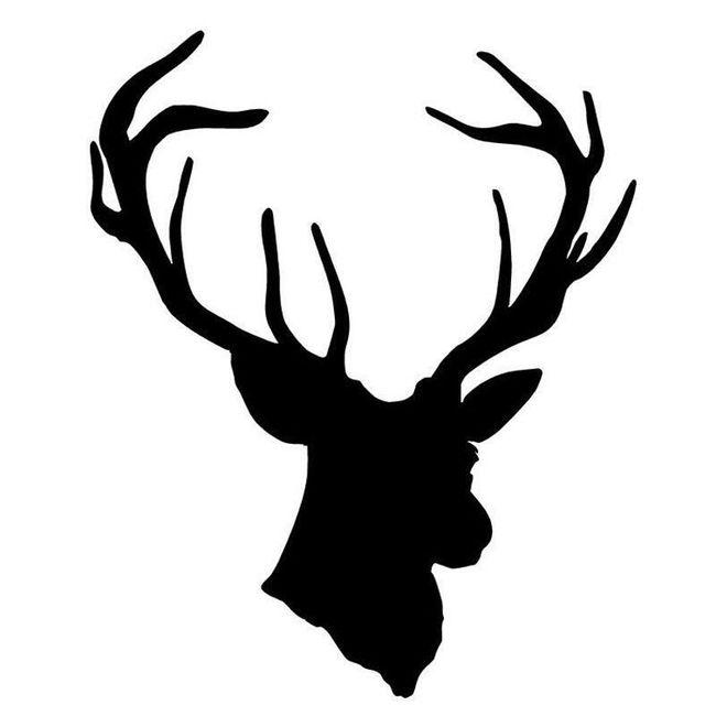 Nalepnica za auto - glava jelena 1