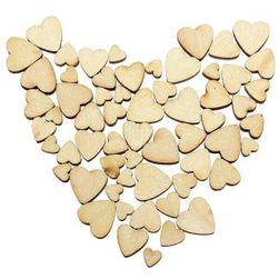 100 парчета дървени сърца