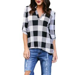 Ženska košulj Lexine u plus veličinama - 4 boje