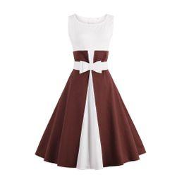 Retro šaty s mašlí a áčkovou sukní