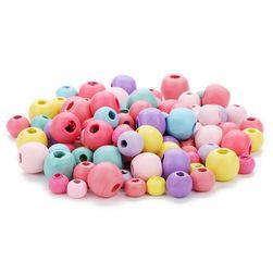 Fa gyöngyök pasztell színekben - 100 darab