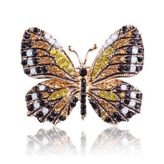 Брошь- Цветная бабочка 1