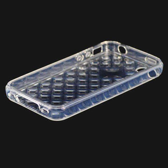 Průhledné ochranné pouzdro pro iPhone 4 a 4S - bílé designové 1