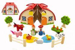 Domček drevená farma s doplnkami 15 ks vo fólii 24x15x12cm RM_00821116