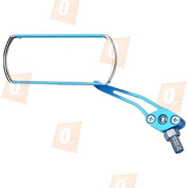 Hliníková antireflexní zpětná zrcátka na motorku, univerzální - modrá (2ks) 1