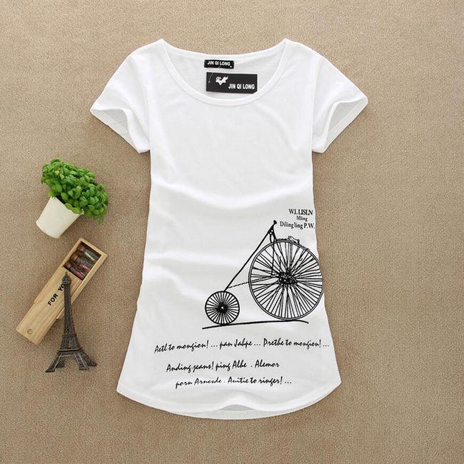 Dámské tričko s trendy potiskem - 8 variant 1