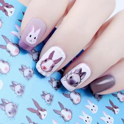 Nálepky na nehty - králíčci