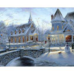 DIY slika sa zimskim pejzažom - 40x50 cm