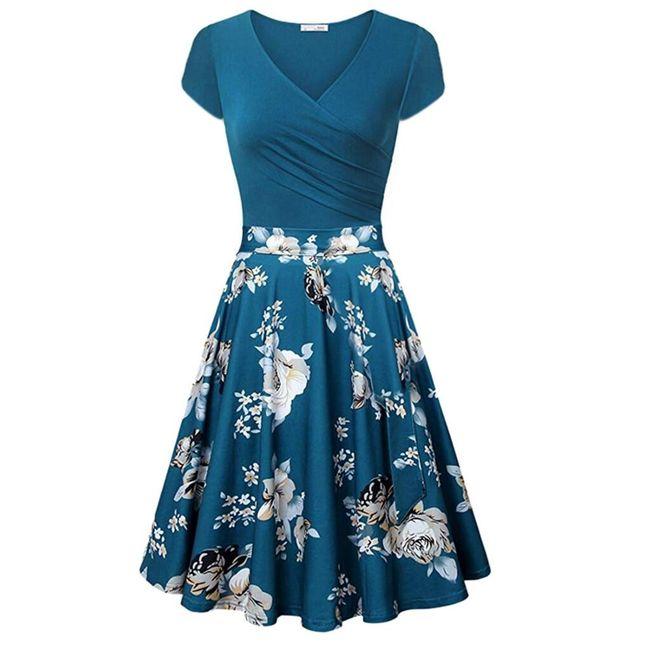 Платье с короткими рукавами Ria 1