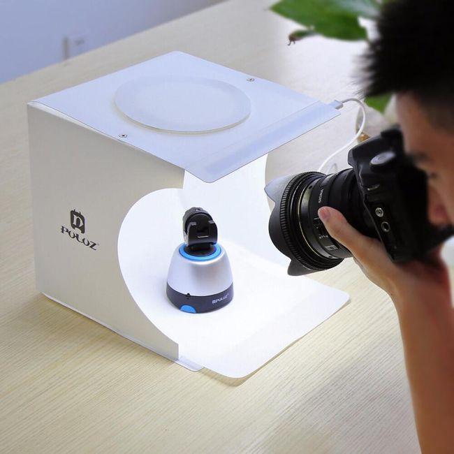 Skládací box pro fotografování produktů + 6 barevných fotopozadí 1