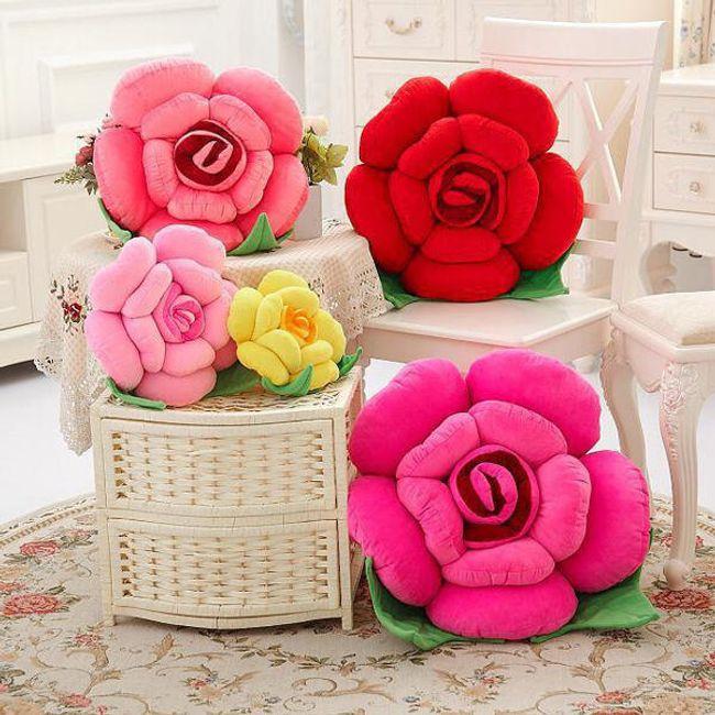3D párna  rózsa alakú 1