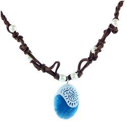 Náhrdelník s modrým kamínkem pro dámy