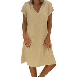 Dámské šaty s krátkým rukávem Merla Kaki - velikost 6