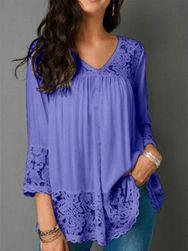 Ženska bluza sa čipkom Helaine - 6 boja