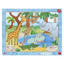 ZVIERATKÁ V ZOO 40 doskové Puzzle PD_1328098
