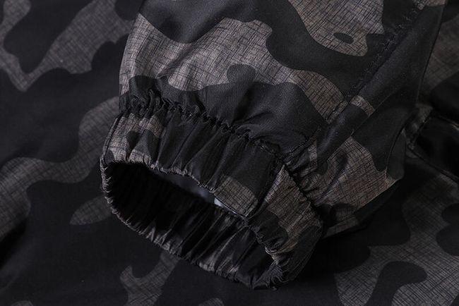 Férfi dzseki kapucnival és álcázási mintával - 3 szín