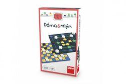 Dáma a Mlýn 2v1 cestovní společenské hry v krabičce 11,5x18x3,5cm RM_21622227
