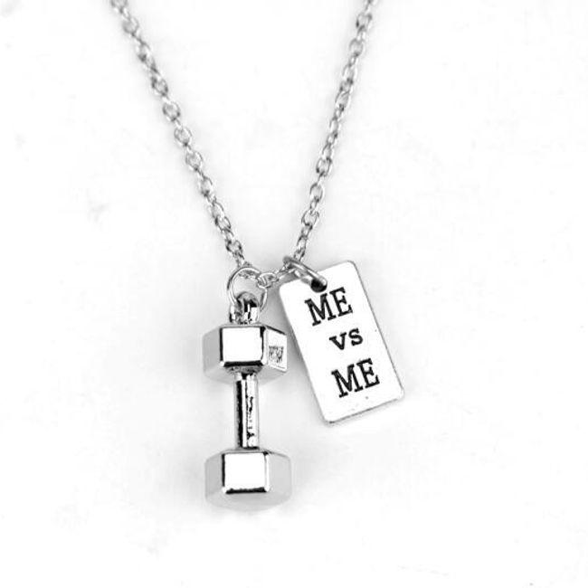 Ogrlica z bučkami in motivacijskim napisom za fitnes navdušence 1
