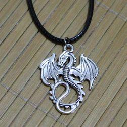 Ogrlica z obeskom v obliki zmaja