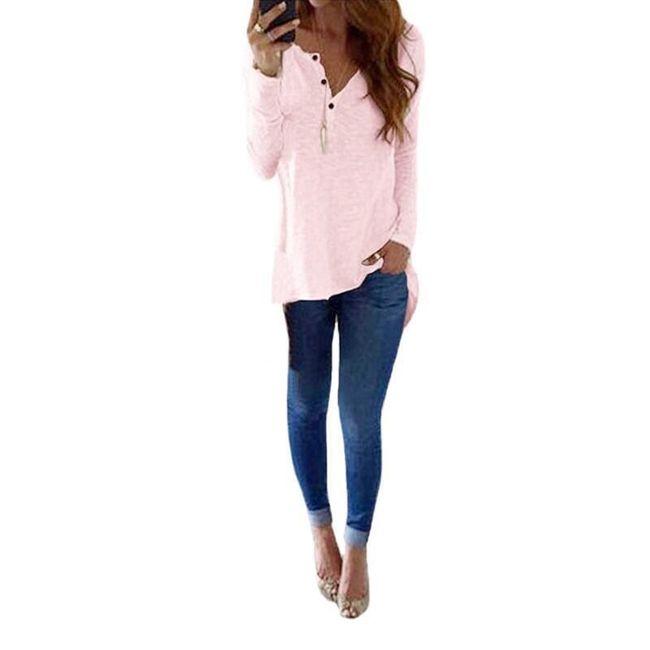 Ženska bluza sa dugmićima - 3 varijante 1