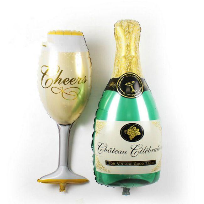 Nafukovací šampaňské balónky - 2 ks 1