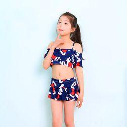 Dvojdílné dívčí plavky - 4 varianty