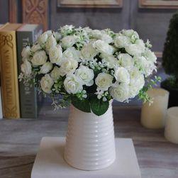 Naturalne sztuczne róże 15 szt.