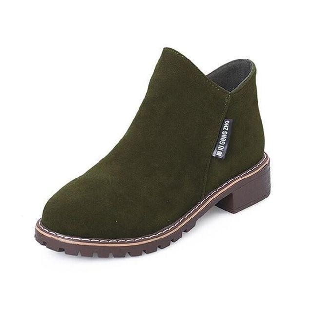 Dámské semišové boty - Zelená-40 1