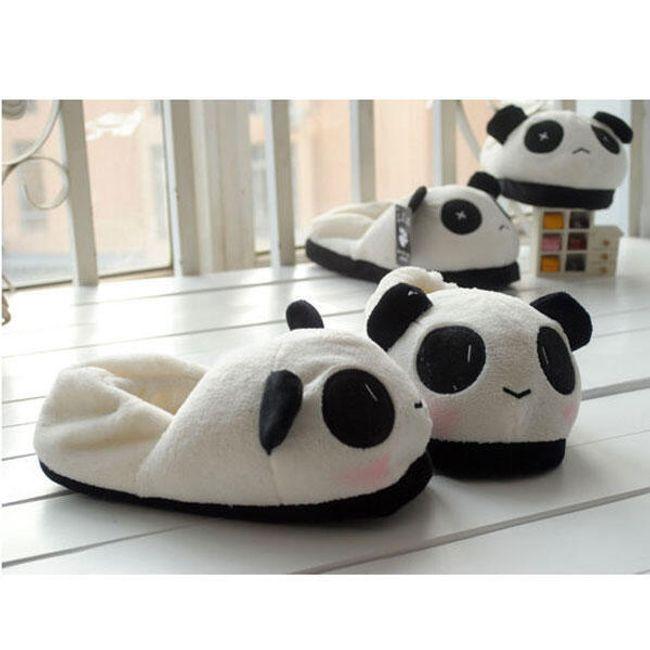 Unisex pantofle s motivem pandy 1