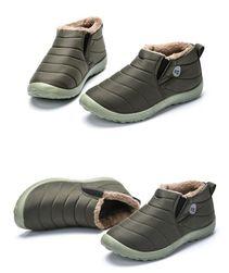 Unisex zimní kotníkové boty - Zelená-velikost 39