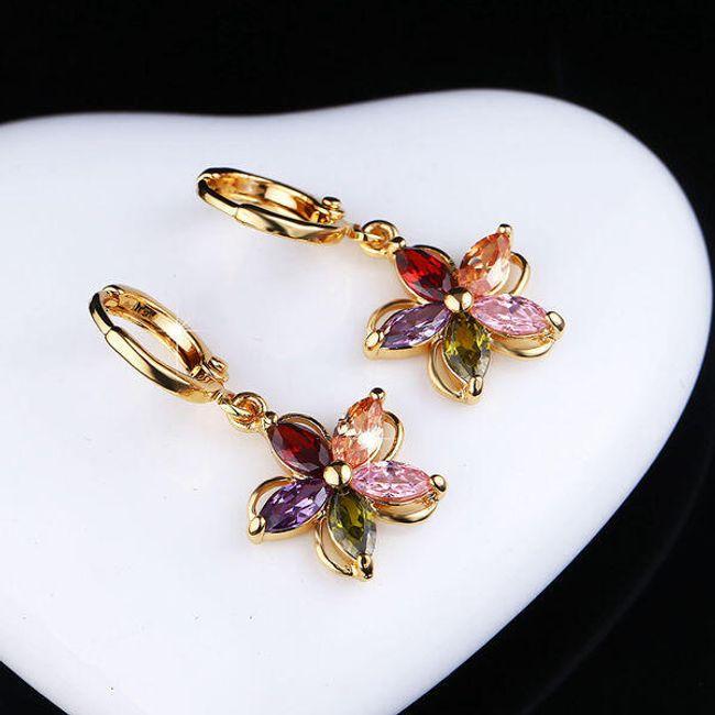 Színes fülbevaló - virág 1