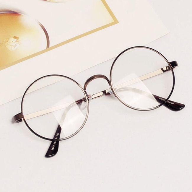 Hamis szemüveg kör alakú kerettel