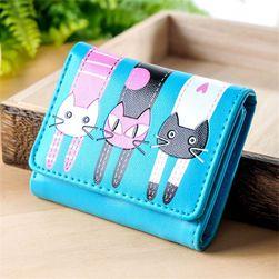 Dámská krátká peněženka se třemi kočkami