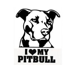 Autó matrica - pitbull