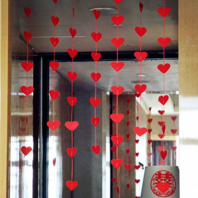 Romantická dekorace - 16 srdcí 1