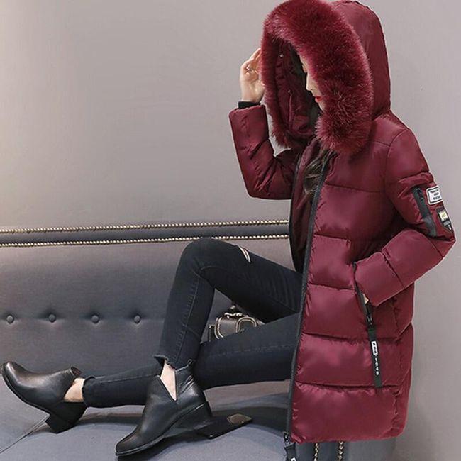 Dámská zimní bunda Alexia - Vínová-L 1